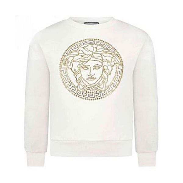 Gold Stoned Medusa Sweatshirt (Mini Me Style) - WORLD OF MONOKROME