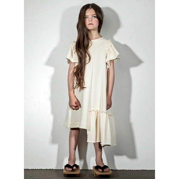 Asymetric Hem Dress - WORLD OF MONOKROME