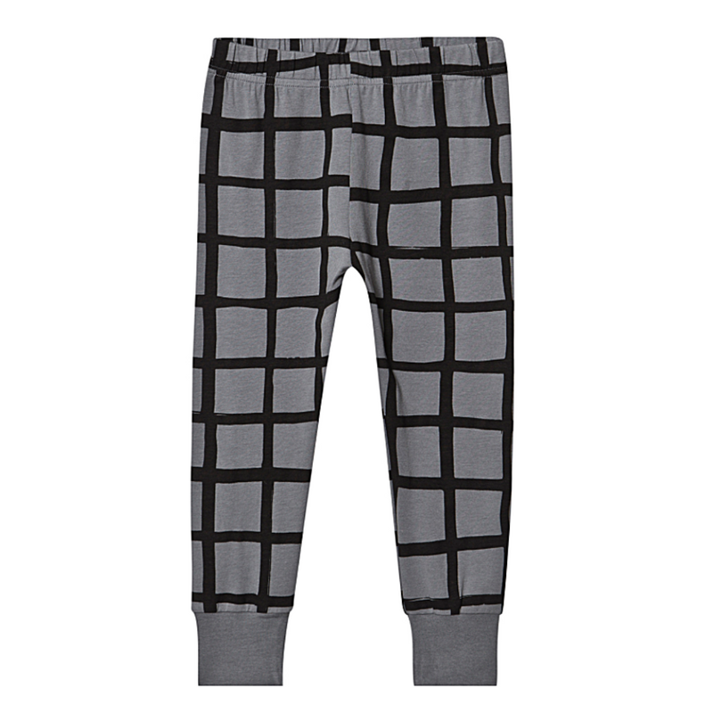 Grid Slim Cuff Pant - WORLD OF MONOKROME