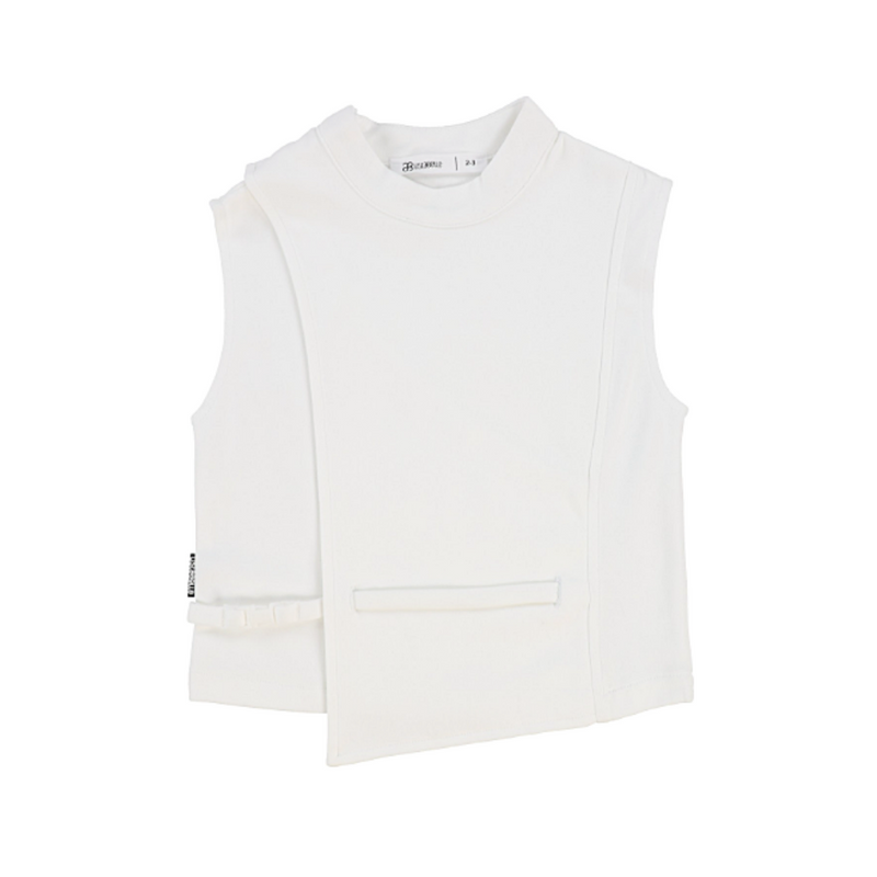 Sleeveless Buckle Shirt - WORLD OF MONOKROME