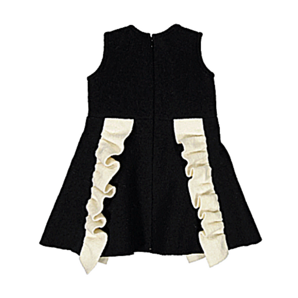 Lourdes Ruffle Dress - WORLD OF MONOKROME
