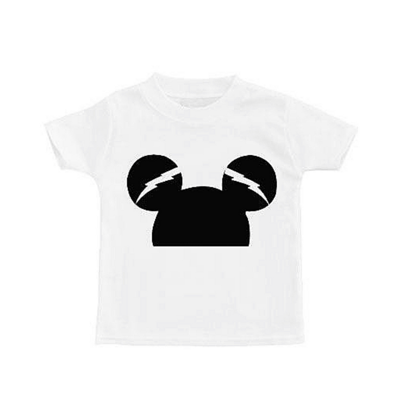 Thunder Mickey Tee - WORLD OF MONOKROME