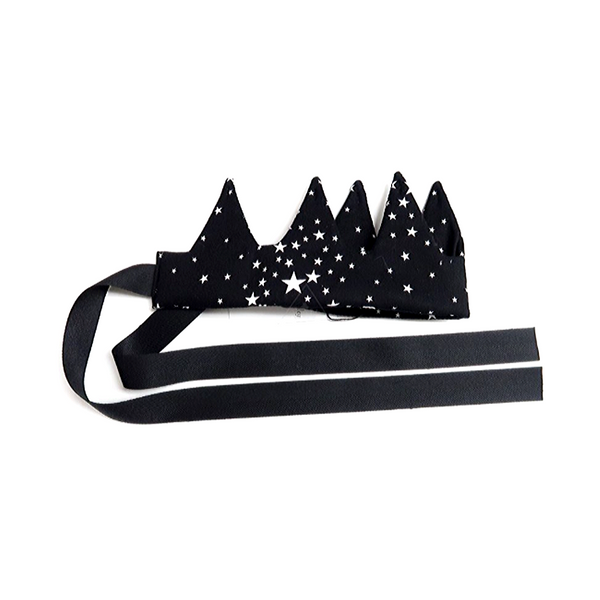 Fabric Star Crown Black - WORLD OF MONOKROME