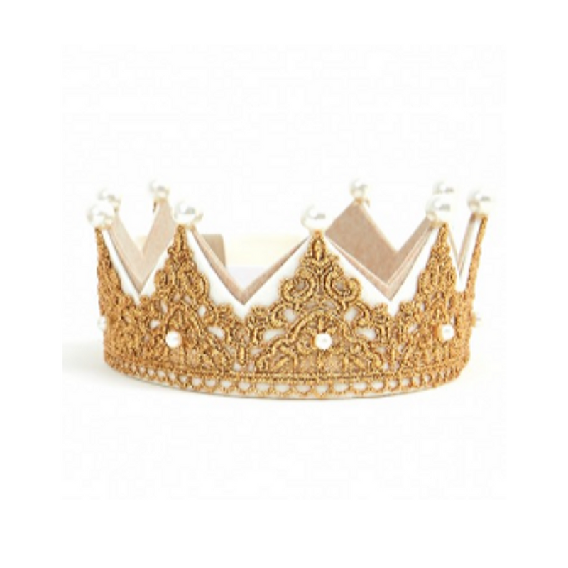Pearl Lace Crown Gold - WORLD OF MONOKROME