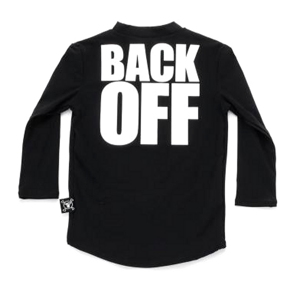 """BACK OFF"" Rashguard - WORLD OF MONOKROME"