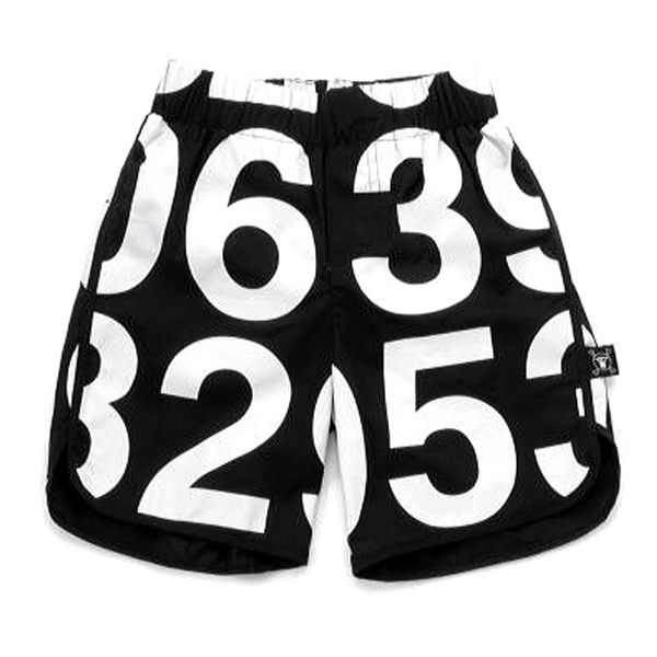 Numbered Surf Shorts - WORLD OF MONOKROME
