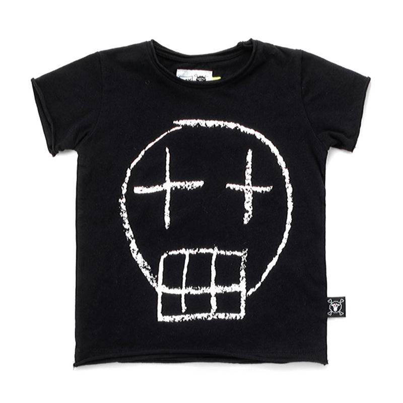 Sketch Skull Tee Black - WORLD OF MONOKROME