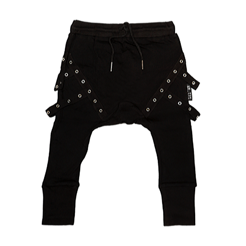 Commando Harem Pants Black - WORLD OF MONOKROME