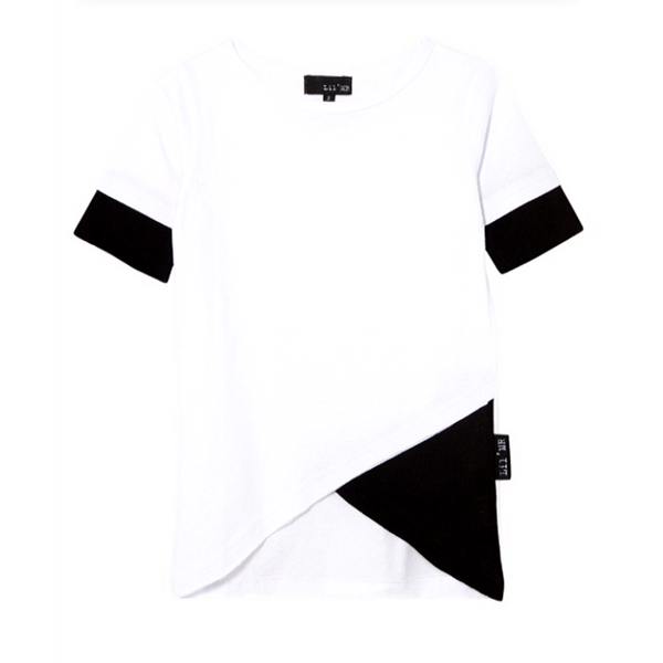 Double Cross Tall Tee White - WORLD OF MONOKROME