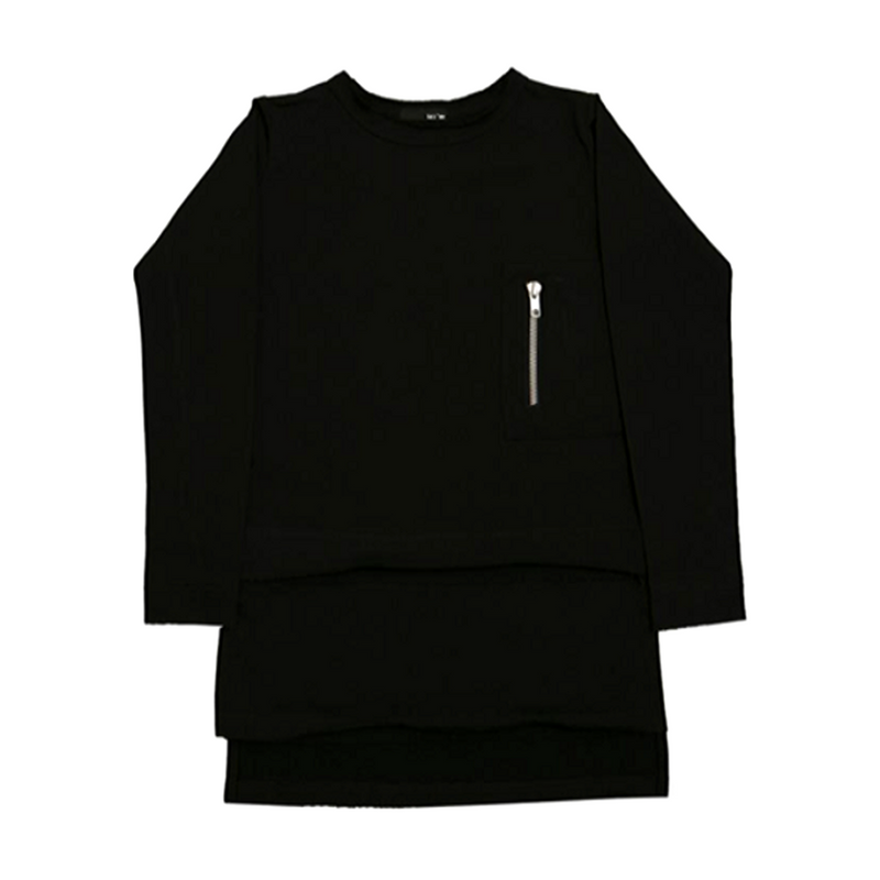 Luxe Layer Top Black - WORLD OF MONOKROME