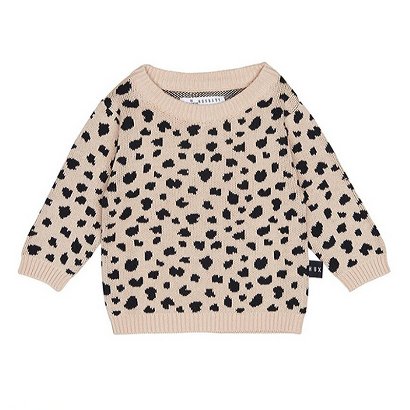 Leopard Knit Jumper Sweater - WORLD OF MONOKROME