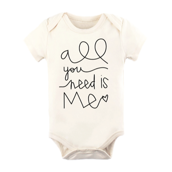 "Organic Bodysuit ""All You Need is Me"" - WORLD OF MONOKROME"