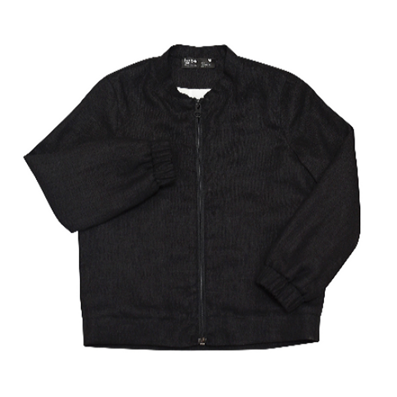 Linen Bomber Jacket - WORLD OF MONOKROME