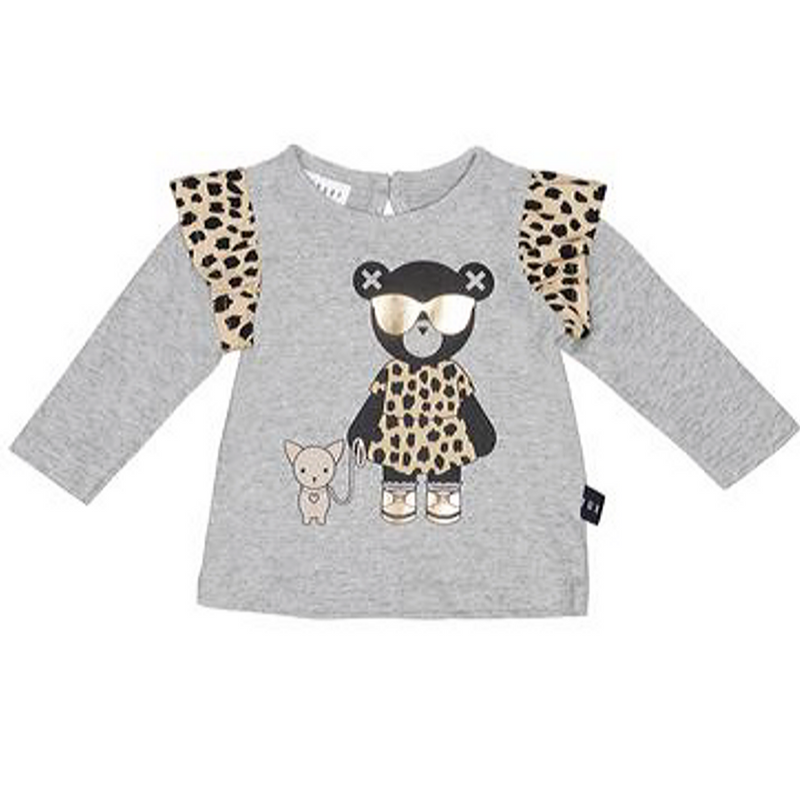 Chihuahua Frill Top & Leopard Heart Legging Set - WORLD OF MONOKROME