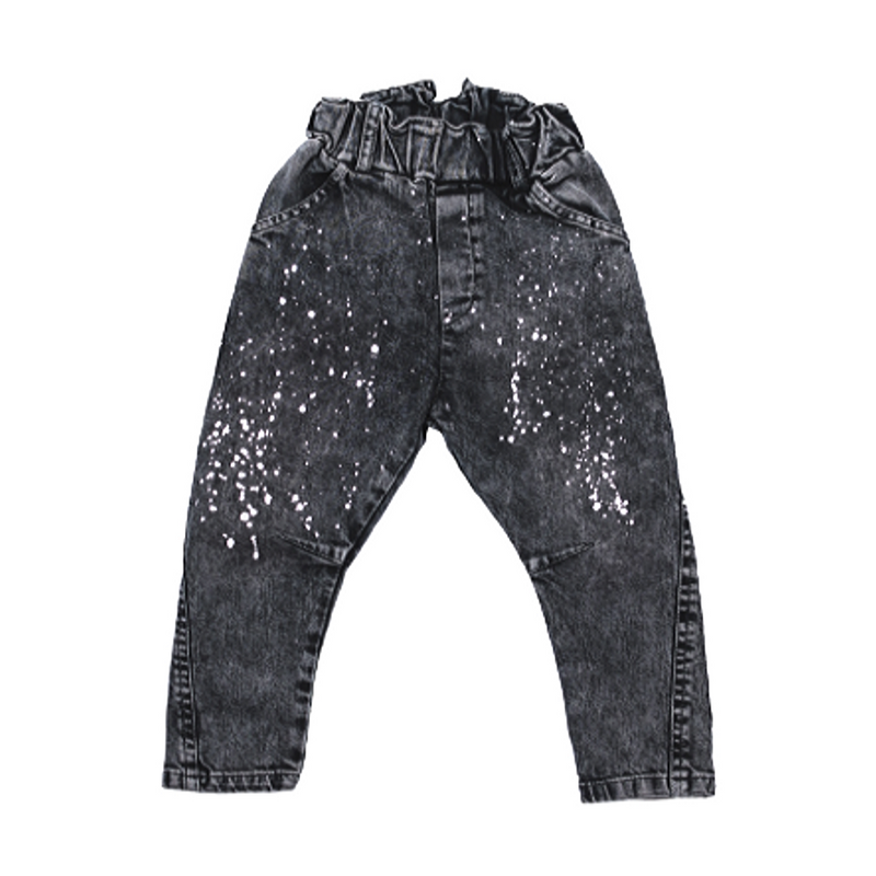 Splatter Denim Baggies - WORLD OF MONOKROME