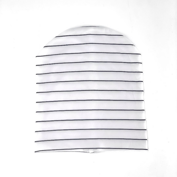 Bamboo Slouch Beanie Stripe - WORLD OF MONOKROME