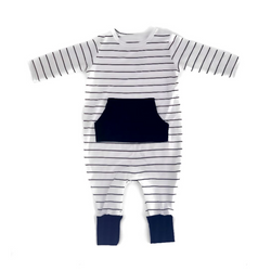 Bamboo Pocket Front Romper - WORLD OF MONOKROME