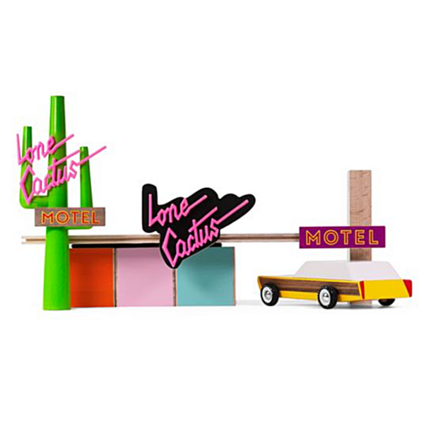 Lone Cactus Motel Wooden Toy Set - WORLD OF MONOKROME