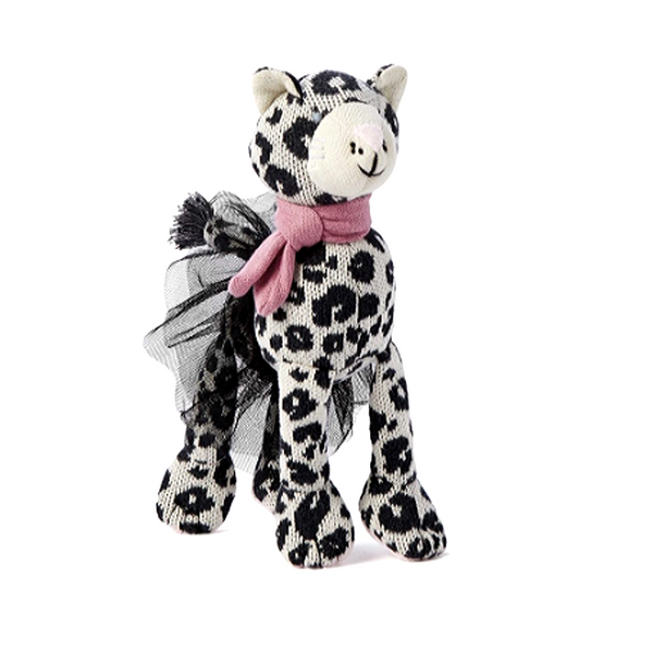 Leopard Knit Doll - WORLD OF MONOKROME