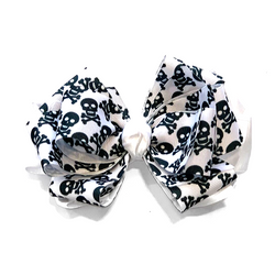Handmade Hair Bow Crossbones - WORLD OF MONOKROME