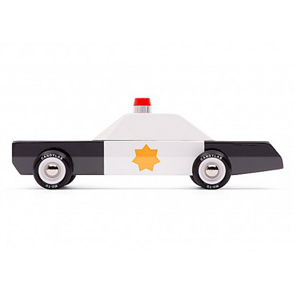 Police Cruiser Wooden Toy - WORLD OF MONOKROME