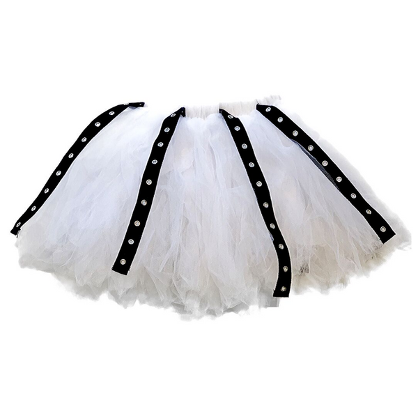 Tulle Renegade Skirt White - WORLD OF MONOKROME