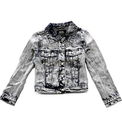 Acid Wash Denim Jacket - WORLD OF MONOKROME