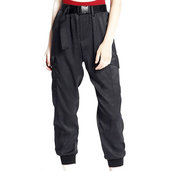 Silky Cargo Joggers - WORLD OF MONOKROME