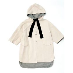 Ribbon Tie Raincoat - WORLD OF MONOKROME
