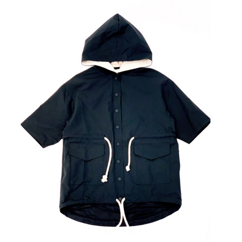 Rope Tie Raincoat - WORLD OF MONOKROME