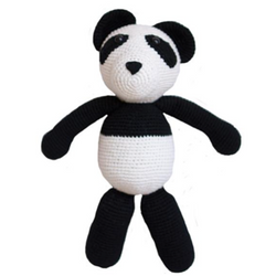 Handmade Knit Panda - WORLD OF MONOKROME