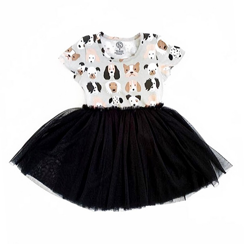 Puppy Love Tutu Dress - WORLD OF MONOKROME