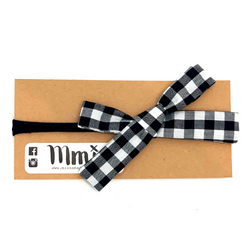 Handmade Hair Bow Wide Buffalo Plaid