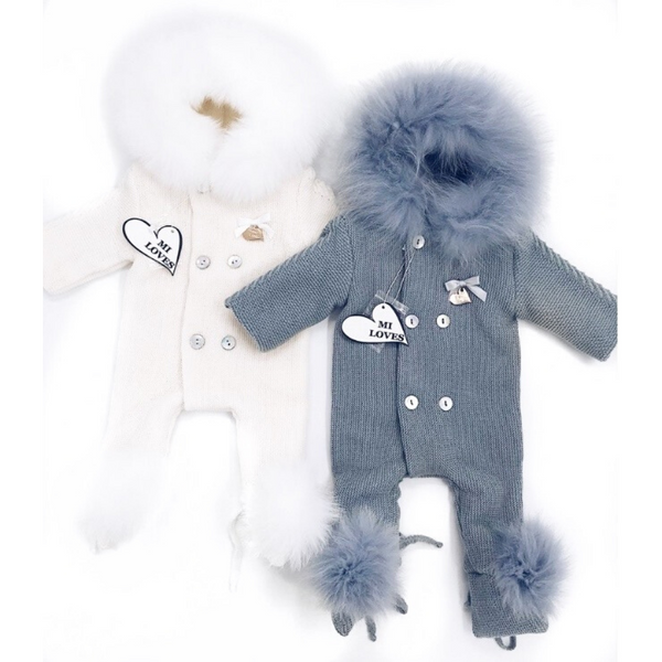 Knit Fur Pramsuit