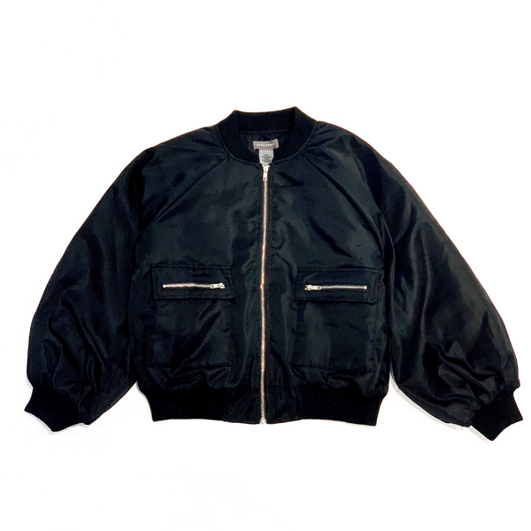 Puff Sleeve Bomber Jacket
