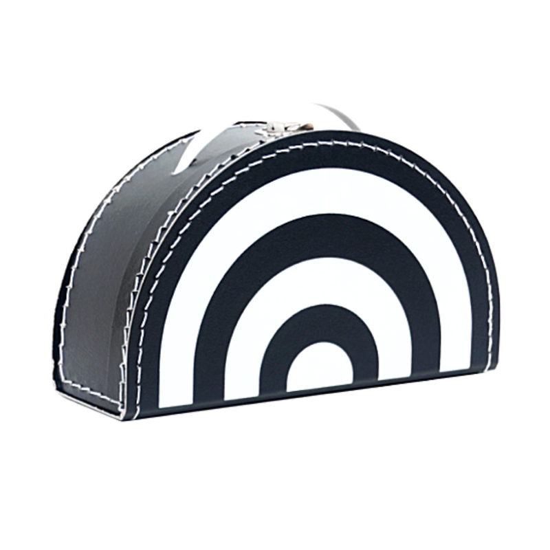 Cardboard Suitcase Monochrome Rainbow - WORLD OF MONOKROME