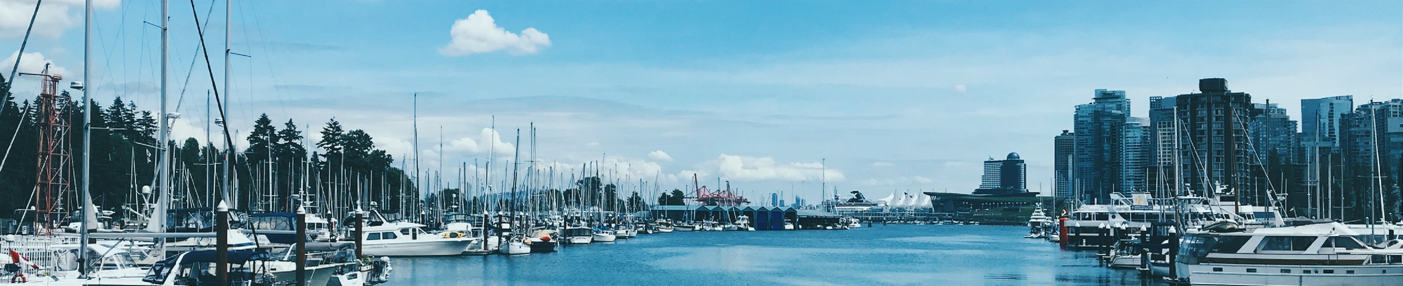 A view of the harbour side, Vancouver, BC.