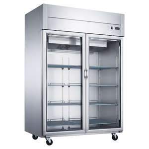 D55AR-GS2 - Two Glass Door Top Mount Fridge