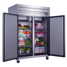 D55AR - Two Door Top Mount Fridge