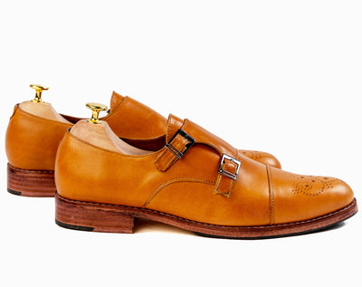 Grand Double Monkstraps - Cognac Tan - Marquina Shoemaker