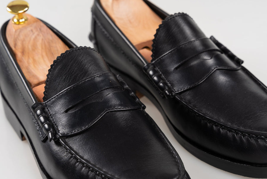 The Grand Penny Loafers - Black Noir