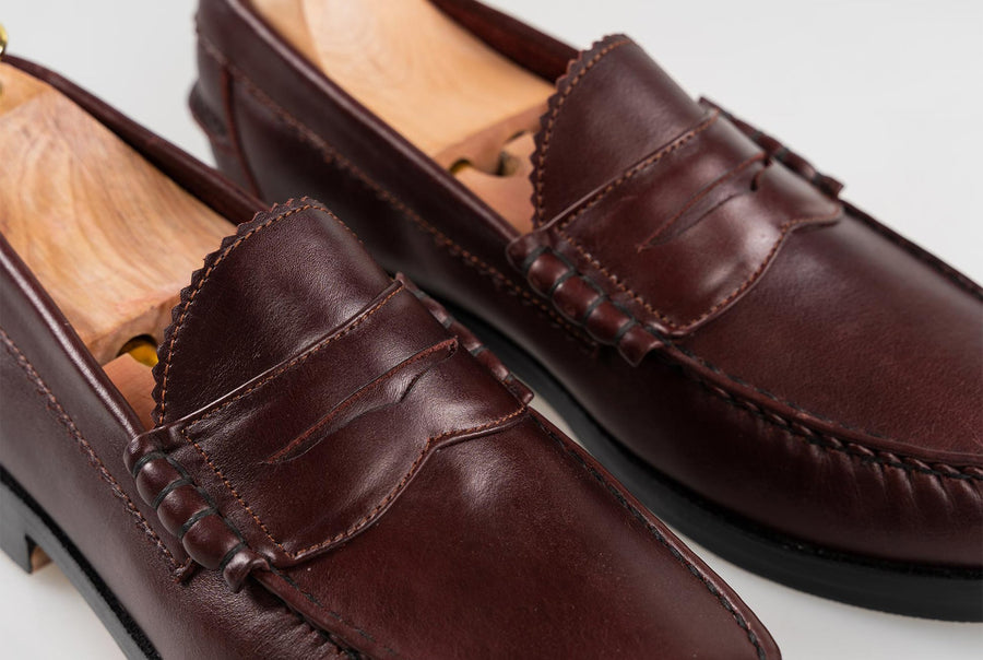 The Grand Penny Loafers - Oxblood Burgundy