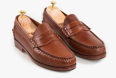 The Grand Penny Loafers - Chestnut Brown