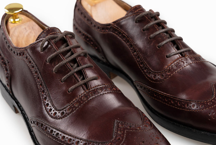 The Grand Wingtip Oxford - Oxblood Burgundy