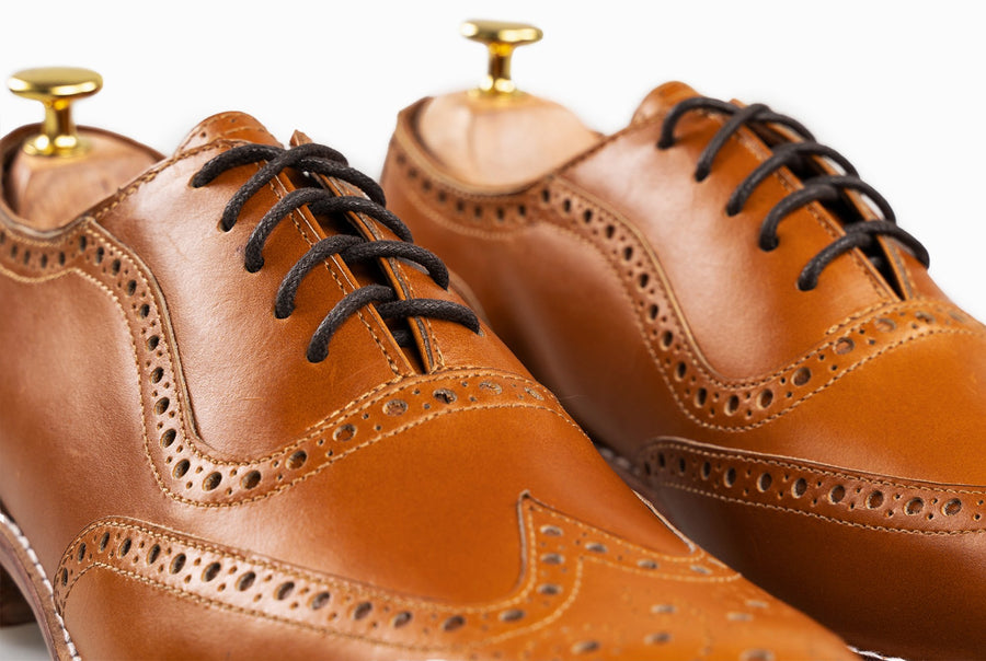 The Grand Wingtip Oxford - Cognac Tan