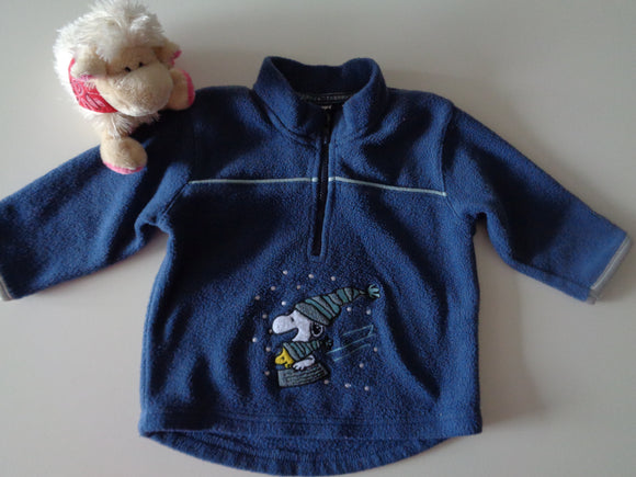Fleecepulli - Snoopy Gr. 74