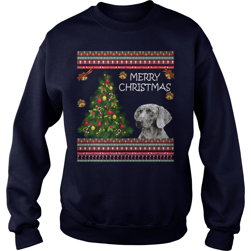 Weimaraner Christmas Sweater. Weimaraner Ugly Christmas Sweater.