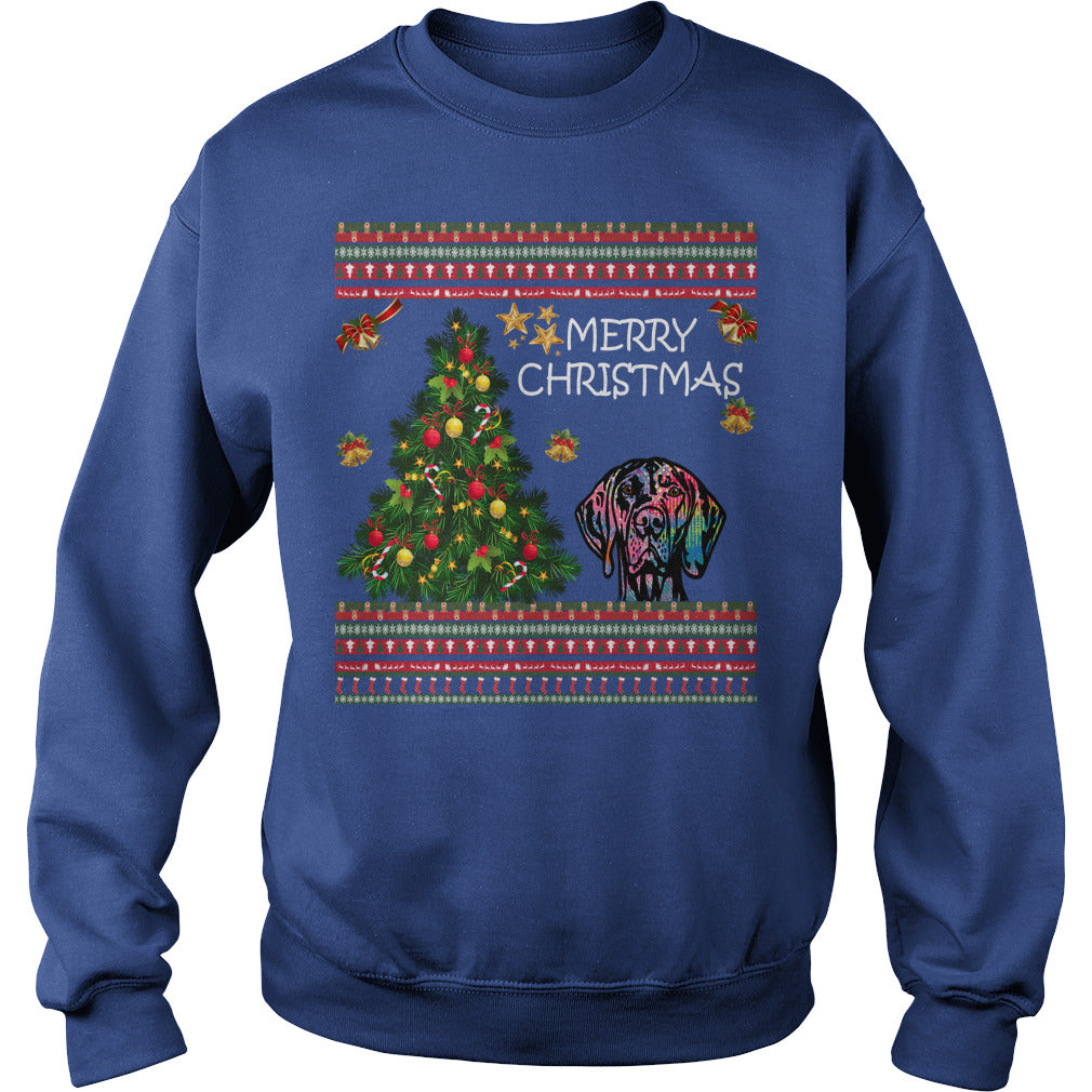 Vizsla Christmas Sweater. Vizsla Ugly Christmas Sweater Hoodie T-Shirt