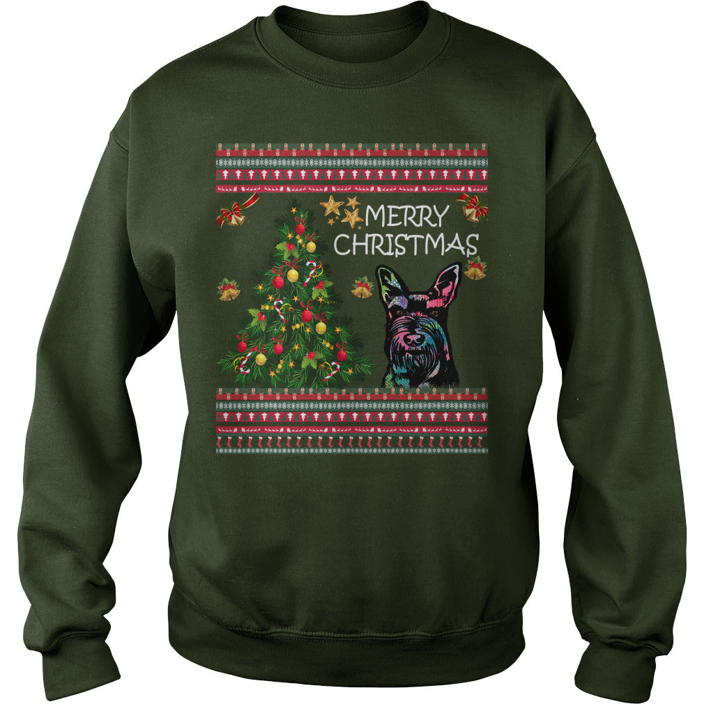 Schnauzer Christmas Sweater. Schnauzer Ugly Christmas Sweater.