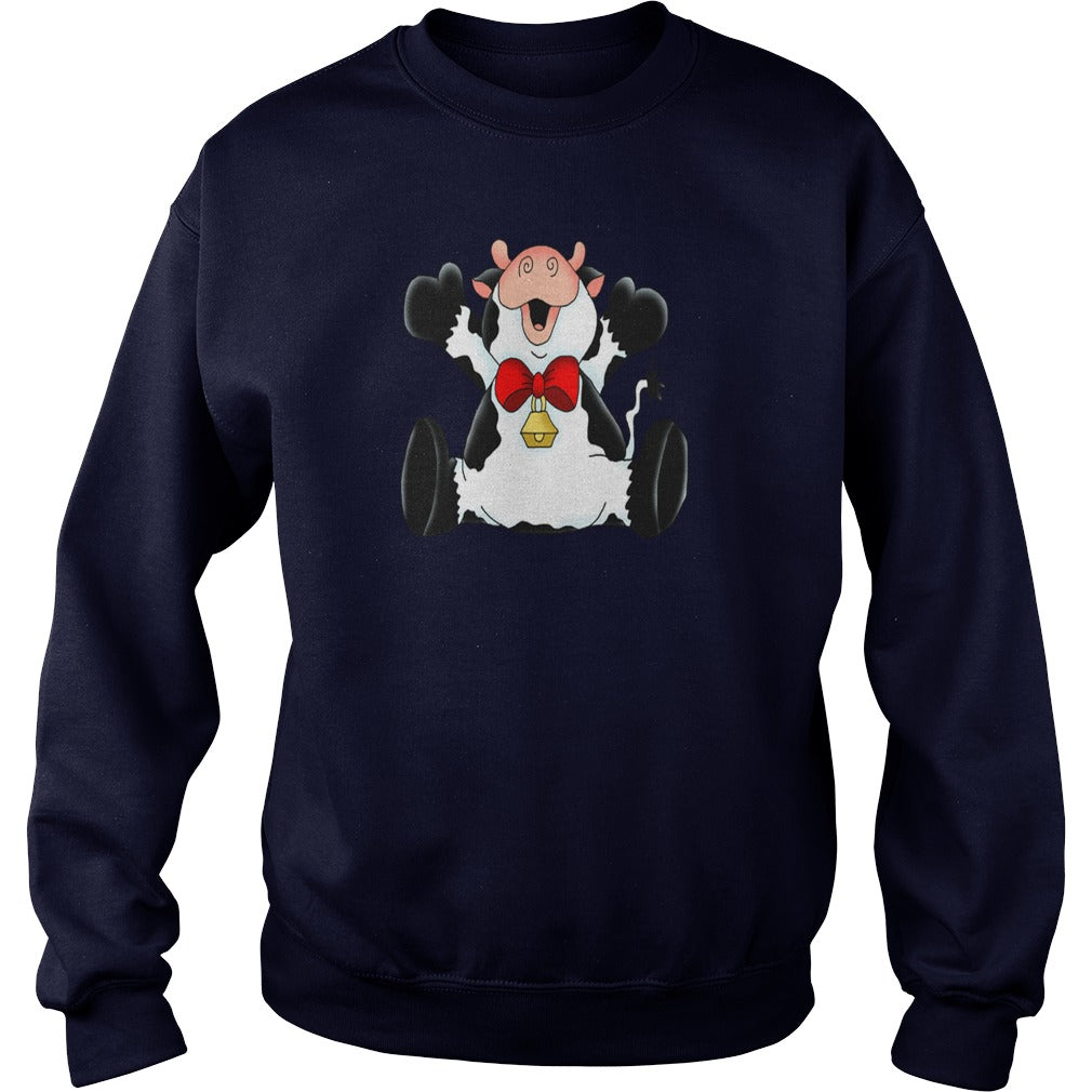 Christmas Cow Sweatshirt. Cow Ugly Christmas Sweater.